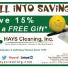 Save 15% Get Free Gift